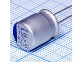 Конд.1500/6,3V 1012 PS CapXon полимерный