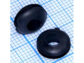 Втулка d=5 мм проходная черная