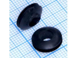 Втулка d=6 мм проходная черная