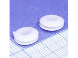 Втулка d=6 мм проходная белая