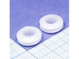 Втулка d=8 мм проходная белая