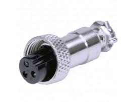 XS12JK-3P(гайка) F розетка 3PIN на кабель