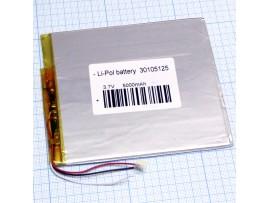 LP30105125-PCM-LD 3 pin акк. 3,7V/5000mAh