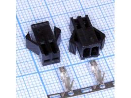 GT-02F розетка 2к на кабель, шаг 2,5мм