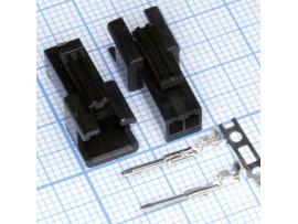 GT-02M вилка 2к на кабель, шаг 2,5мм