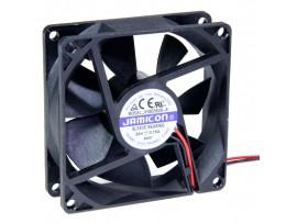 Вентилятор 24V/0,15A 80х80х25 JF0825S2H-R втулка