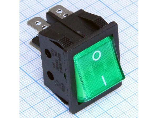KDC2(G) 250V/30A перекл. подсв. 4 контакта