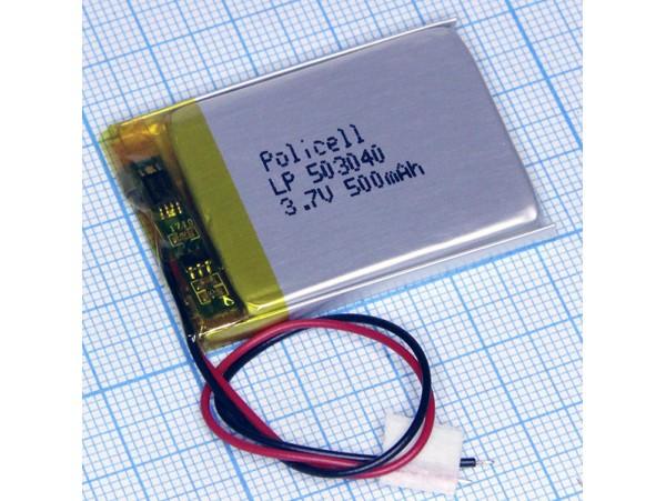 LP503040-PCM аккумулятор 3.7V/500mAh Li-Pol