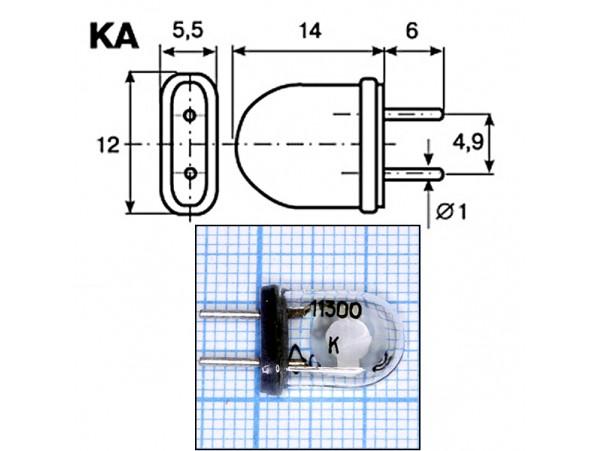 КВАРЦ 11,300 МГц стекло
