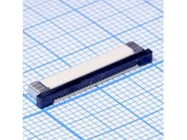FPC 0,5-30-02 розетка 30к под шлейф, шаг 0,5мм, SMD