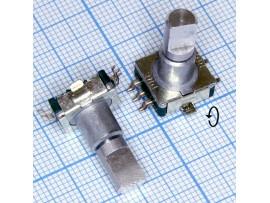 Энкодер EC11 5pin металл ручка 17мм спил SMD