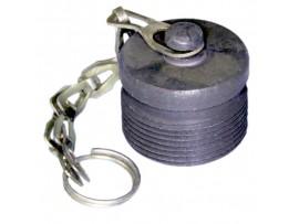 2РМ18 44-02 заглушка кабельная, металл с цепочкой