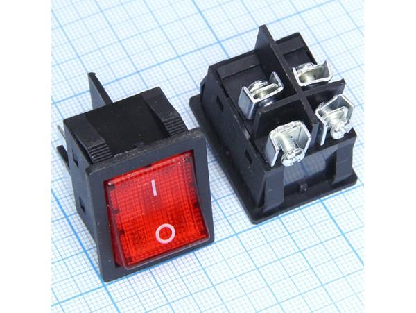 KDC2(R) 250V/30A перекл. подсв. 4 контакта