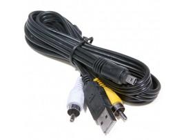 USB дата кабель 8 pin Panasonic/Nikon UC-E6 + A/V 2 RCA