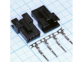 GT-04M вилка 4к на кабель, шаг 2,5мм