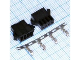 GT-04F розетка 4к на кабель, шаг 2,5мм