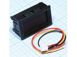 Вольтметр цифровой 0-33,00 VDC, 45x26mm, зеленый