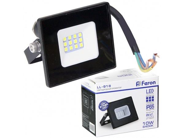 PRE LED FL1 10W 6500K прожектор чёрный IP65