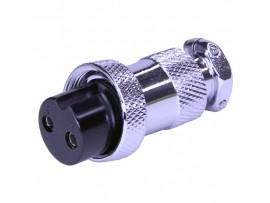 XS20JK-2F(гайка) F розетка 2PIN на кабель