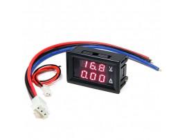 Ампер-вольтметр цифровой 0-100V 0-10A Red