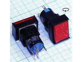 AL6-M12V 12V/5A on-(on) красная кнопка