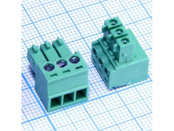 15EDGK-3.5-03P-14-00A(H) клеммник 3к шаг 3,5мм