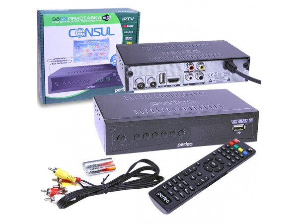 PERFEO Consul DVB-T2/C ресивер эфирный+кабельный