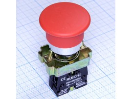 3SA8-BC42 240V/3A on-(off) красная кнопка