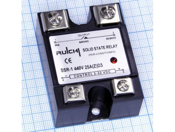 SSR-1 440V 25A (Z)A4 (90-280VAC) реле твердотельное