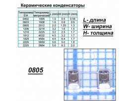 Конд.0805 10µF/16V X5R ЧИП