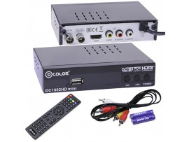 D-COLOR DC1002HD mini ресивер эфирный DVB-T2,HD
