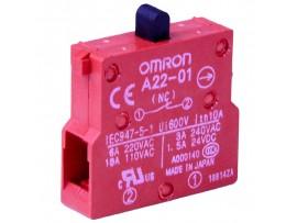A22-01 контактный элемент 1NO Omron