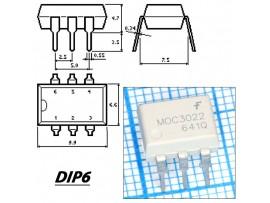 MOC3022M Оптопара