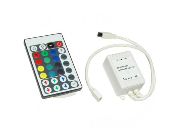 Контроллер RGB с ПДУ на 28 кнопок для светодиодных лент