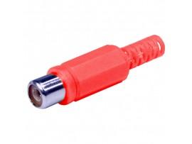 RCA Гнездо на кабель красное