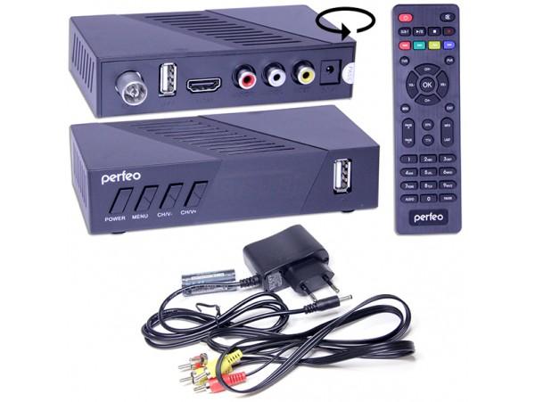 PERFEO STREAM-2 DVB-T2/C ресивер эфирный+кабельный