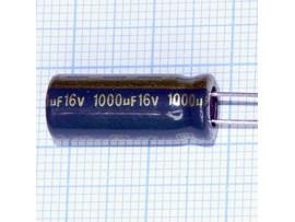 Конд.1000/16V 0820+105°C Jamicon