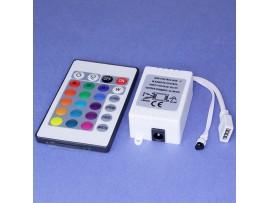 Контроллер RGB с ПДУ на 24 кнопки светодиодных лент