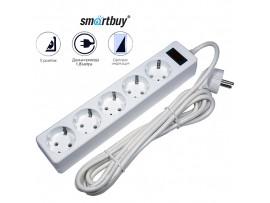 Фильтр сетевой 5 роз. Smartbuy 10А с выкл. 1,8м