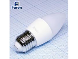 Лампа 220V 5W E27 св/д свеча 4000k