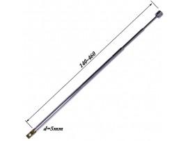 АНТЕННА d=5; 140/460 телескопическая поворотная