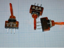 PST-141A Тумблер мини 3pin SPDT (on-on) IP67 (B070BT)