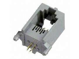 RJ11 Гн.ТФ 6p4c  на плату (5164)