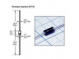 1N4004 (400V;1A) Диод
