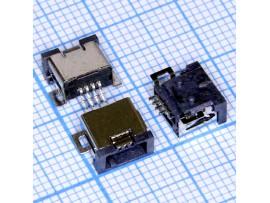 Mini USB 4 pin MN-4P гнездо под пайку