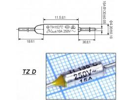 TZ D-135-15A Термопредохранитель