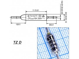 TZ D-145-15A Термопредохранитель