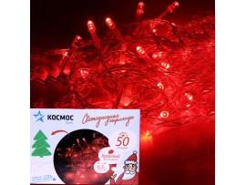 Гирлянда КОС 50LED R красный 6,5м
