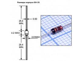 1N4448[BL4448] (100V/0,2A) Диод стекло