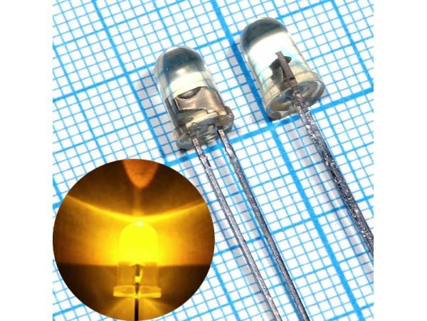 LED DFL-5AY4SC-12 d=5 жёл. 12v